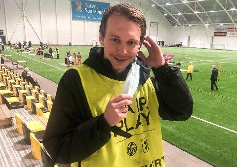 KORONARAMMET: Et juniorlag er rammet av korona. Fredrik Greve Monsen mener det er heldig at topplaget ikke blir berørt.