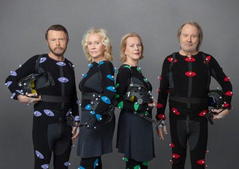 OPPTRER I LONDON I MAI: ABBA annonserer torsdag at de gjør comeback etter 40 år. Agnetha, Björn, Benny og Anni-Frid vil opptre digitalt og live i London fra 27. mai neste år. Foto: Baillie Walsh/Universal Music / NTB