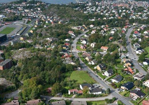 Flyfoto over Skrenten i  Byskogen
