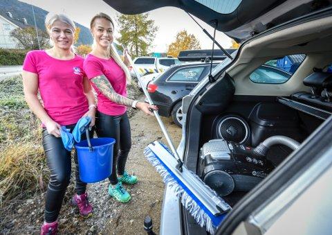 - Det er ingen overdrivelse å si at renhold kan ha vært forskjellen på liv og død for mange mennesker, skriver Rita Nilsen i dette leserbrevet. Bildet viser søstrene Erika Stoniene og Aušra Šileikienė fra Søstrene renhold.