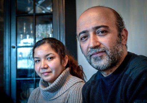 Fatima Jaghori og mannen Hussein mahmoudi som har fått et endelig avslag på asylsøknad og venter på å bli sendt ut av landet.