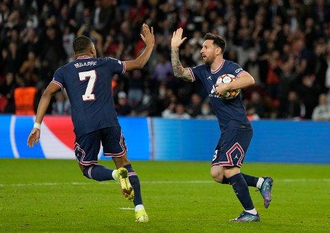 Lionel Messi og Kylian Mbappe er de to størst stjernene i fransk fotball. Du kan se dem direkte i storoppgjøret borte mot Marseille søndag kveld klokken 20.45.