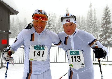 John Gunnar Dokk (t.v.) og Ola Kjonerud fra Næroset, nå går begge Lillehammer Skiklub, var fornøyd med innsatsen.