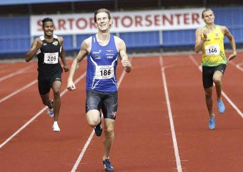 NM-gull: Mauritz Kåshagen vant NM gull på 400 meter i Haugesund lørdag.