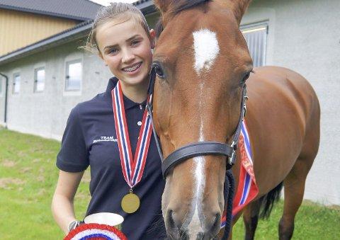 Hedda Bergseth, opprinnelig fra Geilo, er storfornøyd med seieren i NM 13. august.