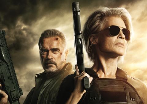 TERMINATOR: DARK FATE: Lnda Hamilton og Arnold Schwarzenegger er tilbake i en ny Terminator-film. Førpremiere til halv pris på Rjukan Kino.