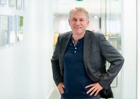 Gleder seg over digital vekst: Magne Storedal, ansvarlig redaktør i Romerikes Blad. FOTO: VIDAR SANDNES