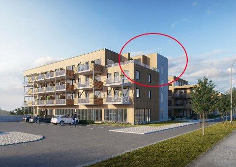 TRAPPETÅRN: Ifølge reguleringsplanen, skal tekniske innretninger være integrert i bygget og fasaden mot veien være tre etasjer. På de nyeste skissene har det dukket opp et trappetårn.