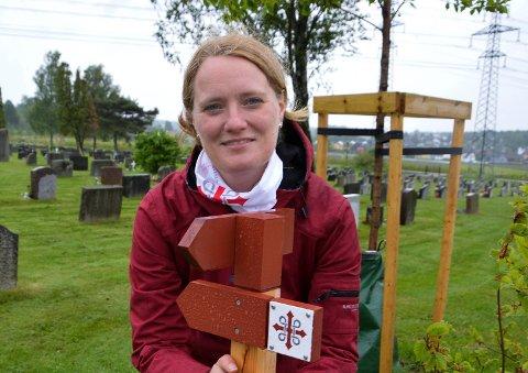 KOORDINATOR: Helene Selvik er satt på jobben med å koordinere det lokale pilegrimsarbeidet.