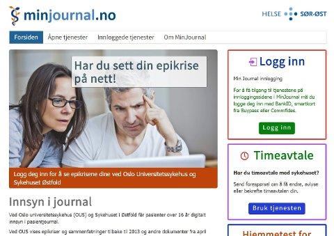 INNSYN: Gjennom tjenesten minjournal.no kan pasienter nå få se mer av journalen sin på nett.