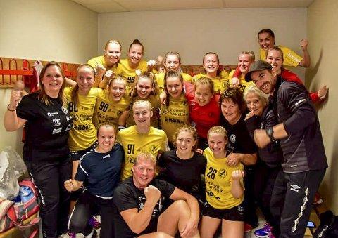 VANT BEGGE: Jenter 18-årslaget viste styrke med to strake seire på hjemmebane i Eidsberghallen.