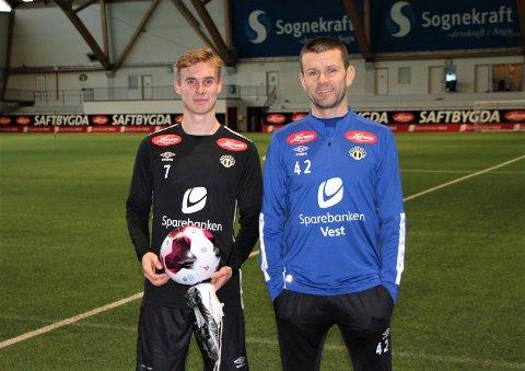 SOGNDAL-SPELAR: Sivert Mannsverk var på plass då Sogndal starta sesongoppkøyringa måndag. Trenar Eirik Bakke slår fast at Sivert blir verande.