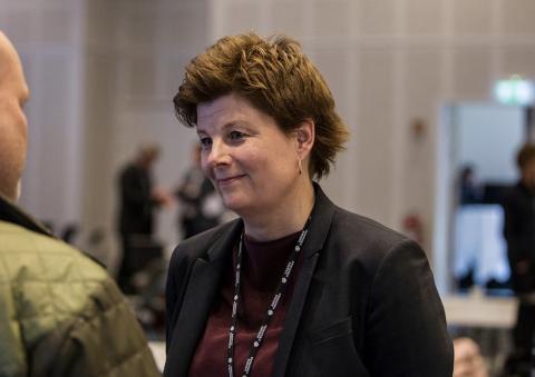Rådmann Ingrid Nordbø legger frem kommunebudsjettet tirsdag.