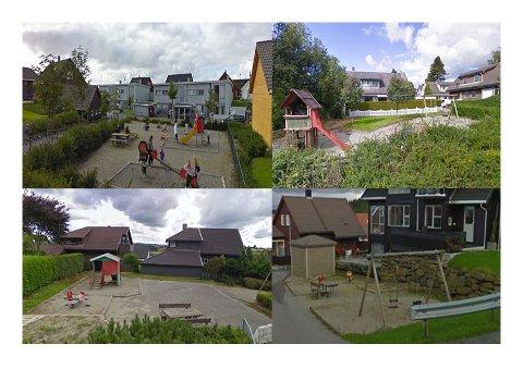 Dette er noen av lekeplassene som kommunen ikke prioriterer.
