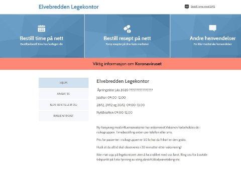 PRIORITERT: Ifølge samarbeidsutvalget mellom allmennlegene og Steinkjer kommune bør Elvebredden legekontor prioriteres med minst en ny legestilling.