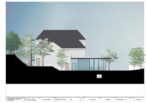 Den skisserte fasaden på det nye byhuset. Illustrasjon: Arkitektkontoret Blakstad Haffner.