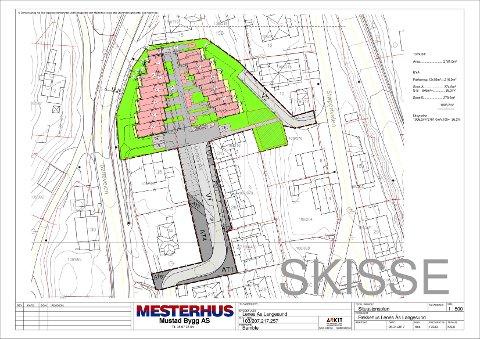 PLANKART: Slik er prosjektet tegnet inn i kartet.