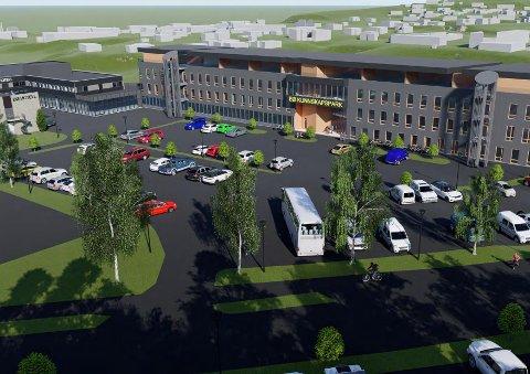 SLIK?: Dette er den nye oversiktsillustrasjonen over Bø kunnskapspark. illustrasjon: 3D Arkitekter AS