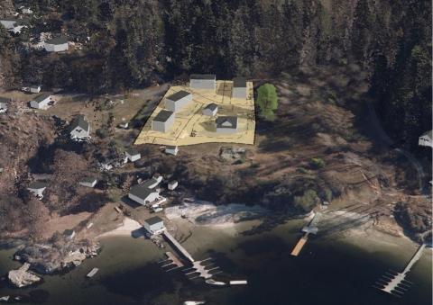 JA TIL NYE HYTTER: Her kommer de nye hyttene på Sommerro, like ved Seivall.