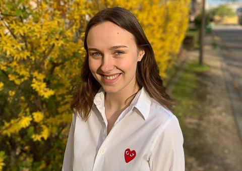 AMBISIØS: Julie Christine With har høye mål for sitt fremtidige yrke. Nå er hun straks ferdig med mastergrad i internasjonal politikk.