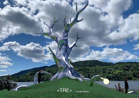 """Dette er """"Tre"""". Bildet er hentet fra kunstnerens egen presentasjon overfor politikerne."""