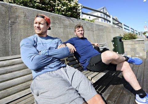 Åpenhjertig: Fritz Aanes (til venstre) snakker for første gang ut i media om den tunge tiden etter at han ble dopingtatt i OL i Sydney. Her er han sammen med sin støttespiller og mangeårige kamerat, Eren Gjægtvik.