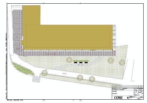 GANGVEI: Trappa på østsiden av Sparebank1 Nordvest sitt bygg fjernes og erstattes med en gangvei.