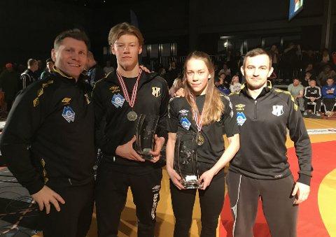 Magnus Grønvik tok en knallsterk sølvmedalje, mens Silje Kippernes tok gull i bryte-NM lørdag.