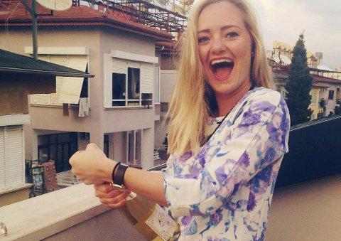 SPONTAN FEIRING: Regissør Emilie K. Beck feiret utvelgelsen da hun var på ferie i Tyrkia.