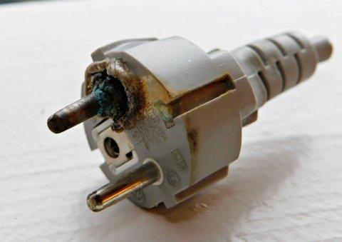SVIDD: Ser kontakten slik ut, bør du kontakte elektriker.