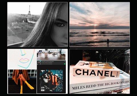 PARIS I GABIJAS HERTE: – Jeg tok bilder av meg selv og Eiffel-tårnet da jeg var i Paris. Jeg føler at en liten del av hjertet mitt tilhører Paris, derfor valgte jeg å bruke bildene som er tatt der, sier Gabija Gabalyte (18).