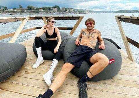 ANNERLEDES: Tomas Hansson (30) fra New Zealand har brakt sitt nye badstue-konsept fra Oslo til Tønsberg-distriktet.