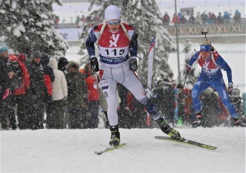 Glimrende: Harald Øygard hevet seg mye fra sprinten lørdag da han skjøt 19 treff på fellesstarten søndag.