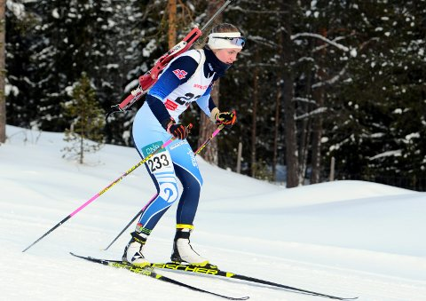 På pallen: Eivor Melbybråten ble lørdag nummer tre i norgescupen i skiskyting i Os ved Røros.