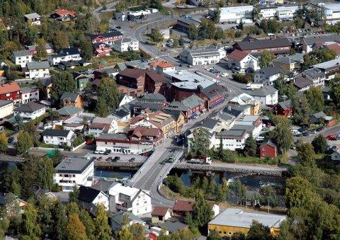 Fagernes sentrum.