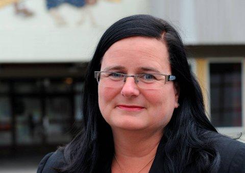 GLEDELIGOVERRASKET:Rektor Runa Lie Berg på Bjertnes videregående skole. Arkivfoto: Tor Hjelset