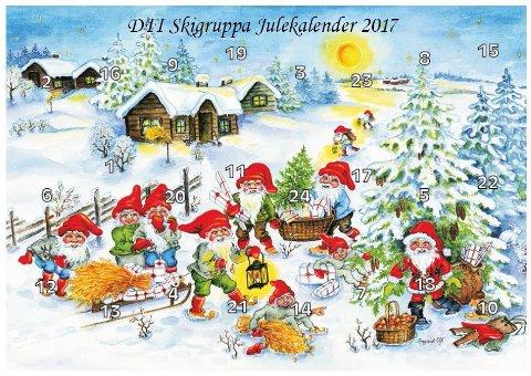 Denne julekalenderen kjenner de fleste i Frogn.  Snart får du kjøpt 2018-utgaven.