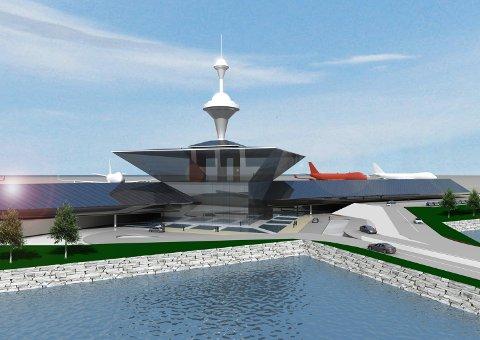 Slik tenker sivilarkitekt  Finn Sandmæl seg en flytende flyplass i Bodø.