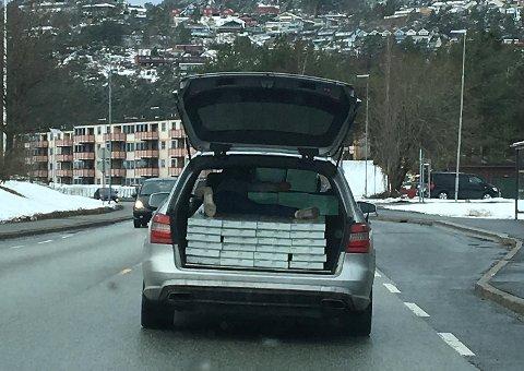 Hadde politiet oppdaget denne transporten, hadde det vanket bøter.