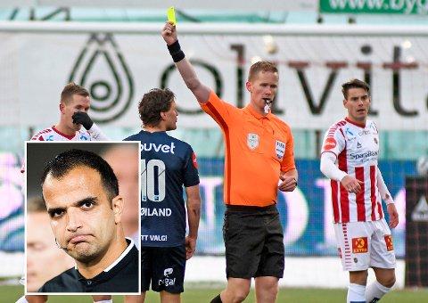 Kristoffer Hagenes får så hatten passer av Svein-Erik Edvartsen (innfelt).