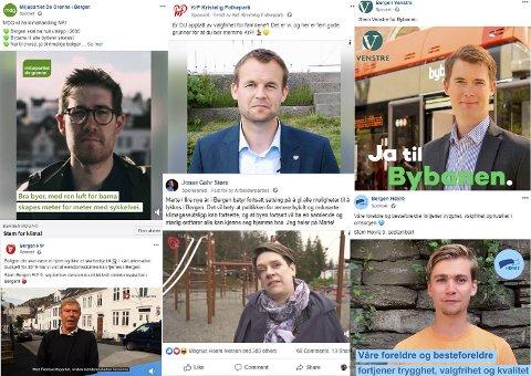 Mange av de politiske partiene i Bergen kjøper seg synlighet i sosiale medier.