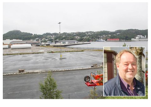 Her, i Holevik på Eigerøy, skal Statnett leie et bygg av Eigersund næring og havn. Fungerende ordfører Leif Erik Egaas (innfelt) ga i sommer foretaket et kommunalt lån på nær 40 millioner kroner. Pengene skal brukes på det nye bygget. Frp mener at Egaas, som er styreleder i Eigersund næring og havn, kan ha vært inhabil.