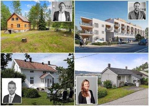 DYREST OG BILLIGST: Eikerbladet har sjekket ut markedet og muligheter. Her her Eikers billigste og dyreste boliger.