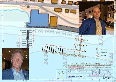 Prosjektet i Nordvågen, som vil gi 24 nye kaiplasser, samt gjestehavn ønsker både leder i Nordkapp SV, Johnny Ingebrigtsen og leder i Havnerådet, Yngve Kristiansen å komme i gang med så fort som mulig.