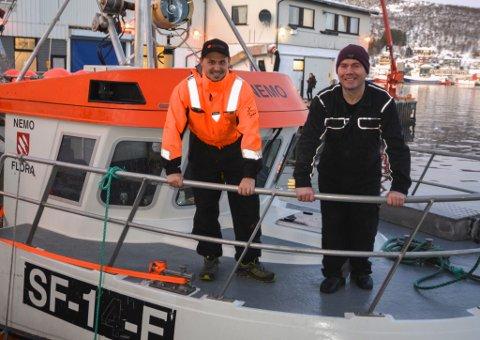 Jan Arild Landøy (t.h.) og Prezemek Kucharczyk på Nemo fiska opp heile torskekvoten sin på ei veke.