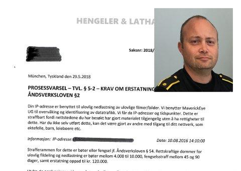 ÅTVARER: Etterforskingsleiar Kjell Magne Barsnes ved Vest politidistrikt åtvarer mor dette brevet.