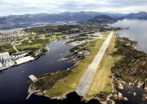 VEKST: Florø lufthamn hadde sterk passasjervekst i juli.