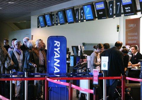 Usikker fremtid: Ryanair kan forsvinne, frykter Høyres Tor Prøitz. Arkivfoto: Moss Avis