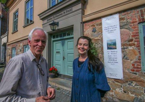 Spennende september: Geir Stahl og Elisabeth Gyllensten ser frem til noen spennende dager i Gamlebyen med start 6. september. Det blir både utstillinger og boklansering.