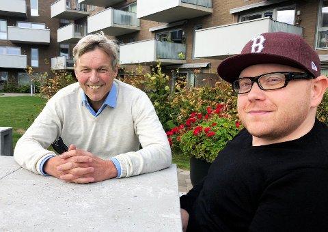 FORFATTERBLOKKA: Jan Ove Ekeberg har lest alle bøkene om Anton Brekke. Jan-Erik Fjell har ikke lest en eneste bok av Ekeberg.